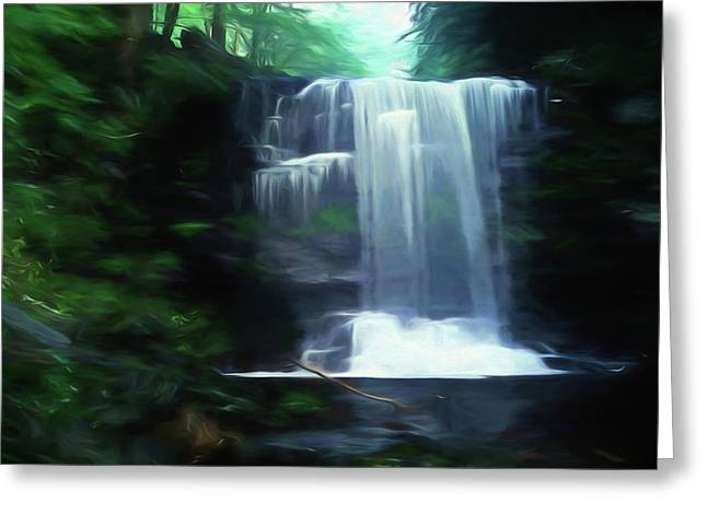 Lush Green Digital Greeting Cards - Ricketts Glen falls 020 Greeting Card by Scott McAllister