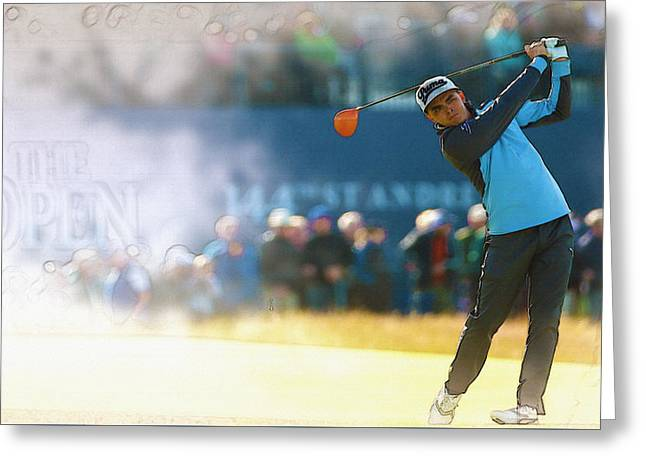 The Tiger Greeting Cards - Rickie Fowler  Greeting Card by Don Kuing