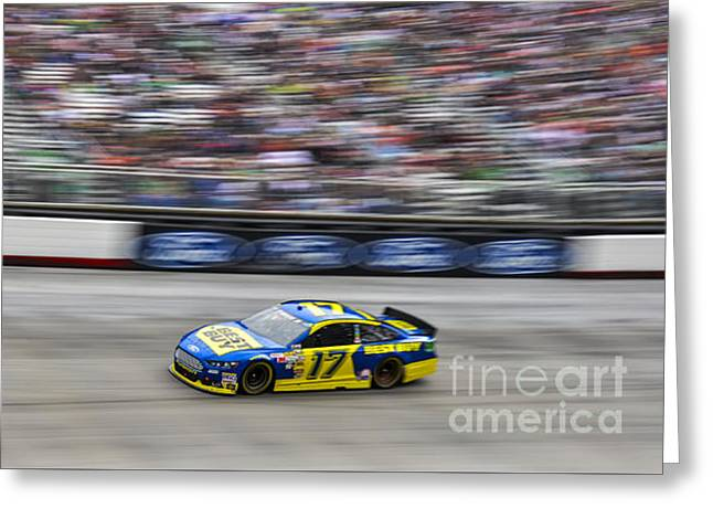Ricky Stenhouse Jr. Racing At Bristol Motor Speedway Greeting Card by David Oppenheimer