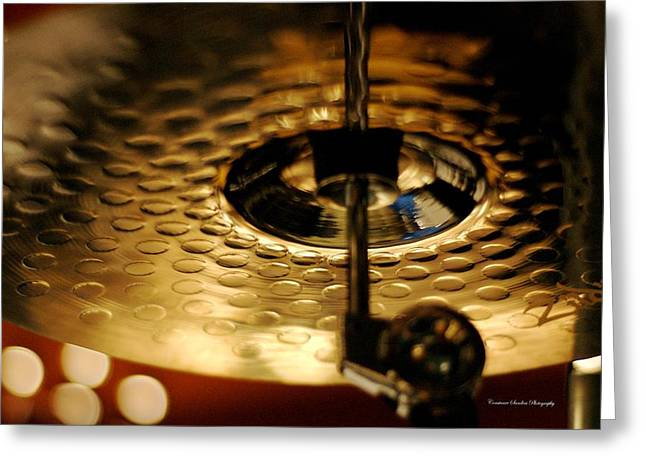 Ride Cymbal Greeting Cards - Ride Cymbal Greeting Card by Constance Sanders