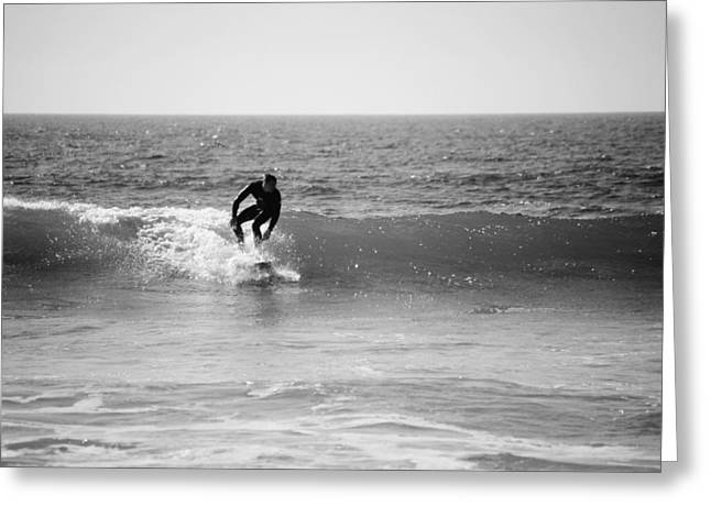 Bransen Devey Greeting Cards - Ride The Surf Greeting Card by Bransen Devey