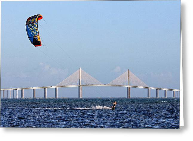 Kiteboarding Greeting Cards - Ride The Wind Greeting Card by HH Photography of Florida