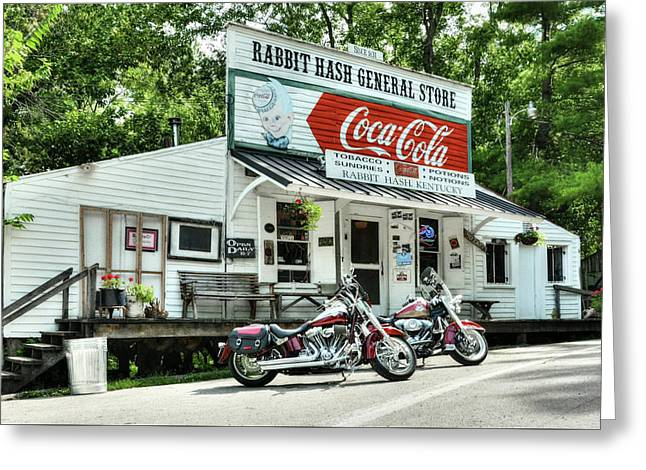 Ride To Rabbit Hash Greeting Card by Tri State Art