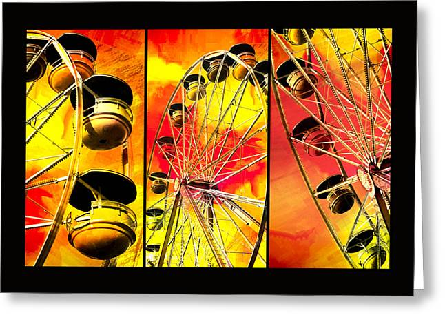 Spokes Greeting Cards - Ride With Me Greeting Card by Carolyn Marshall