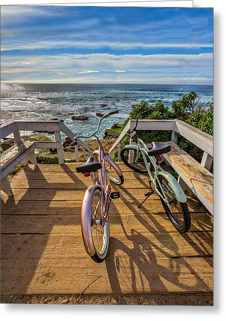 Ride With Me To The Beach Greeting Card by Peter Tellone