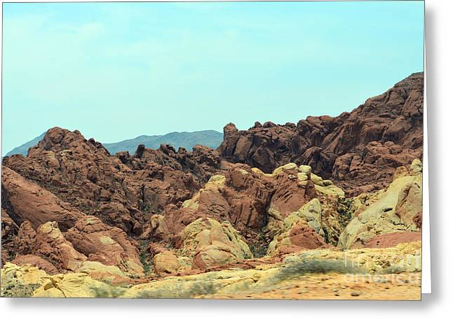 Boulders Tapestries - Textiles Greeting Cards - Ridge Colours Greeting Card by Edna Weber