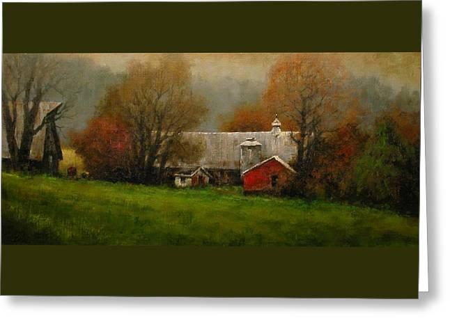 Ridgefield Farm Greeting Card by Jim Gola