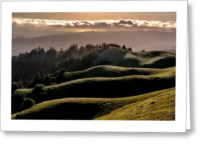 Marin County Greeting Cards - Ridgelines Greeting Card by Dan Shehan