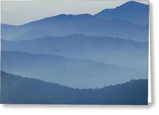 Great Smokey Mountains Greeting Cards - Ridgelines Great Smoky Mountains Greeting Card by Rich Franco