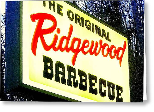 Ridgewood Barbecue Greeting Card by Gail Oliver