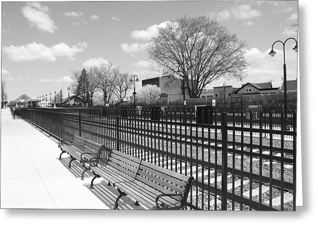 Ridgewood Greeting Cards - Ridgewood NJ Train Station Greeting Card by Barry Glick