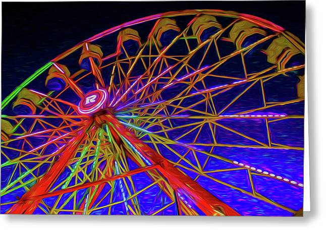 Riding High Greeting Card by Lisa Bell