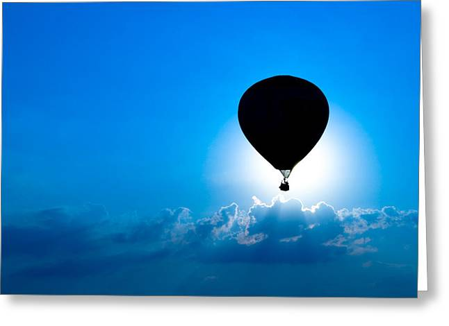 Riding The Clouds Greeting Card by Todd Klassy
