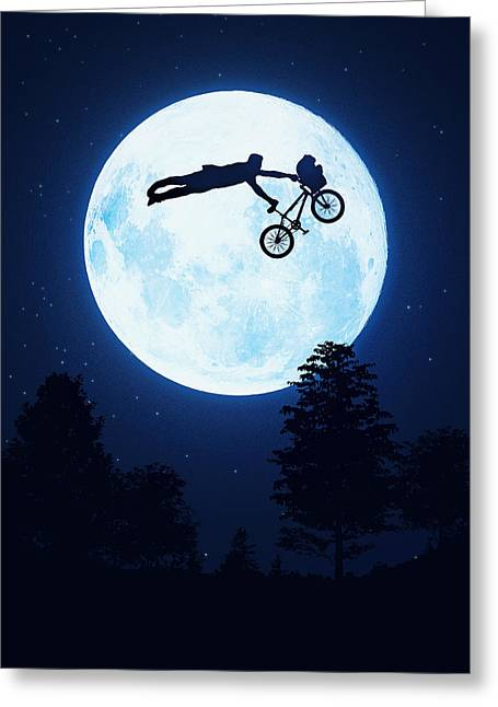 Riding The Kuwahara Bmx Like A Boss Greeting Card by Philipp Rietz