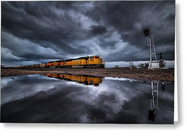 Railyard Greeting Cards - Riding the Storm Out Greeting Card by Darren  White