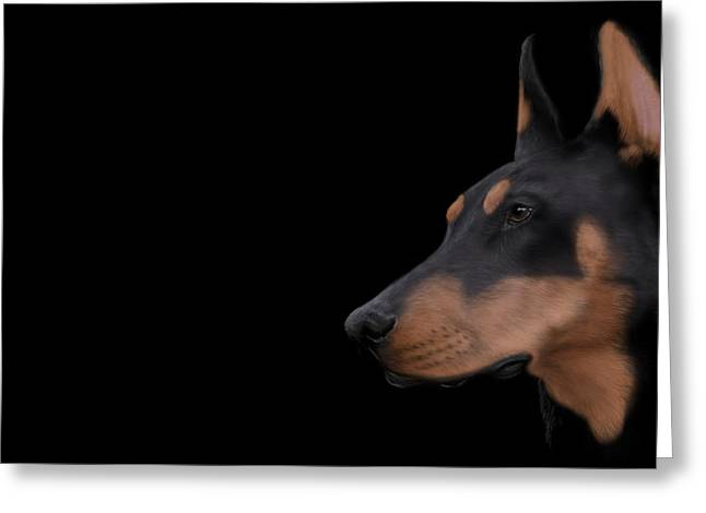 Custom Pet Drawing Greeting Cards - Fine Art Digital Drawing of Ridley the pup Greeting Card by Michael Winn