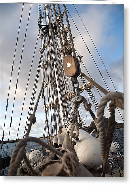 Masts Greeting Cards - Rigging2 Greeting Card by MAK Imaging