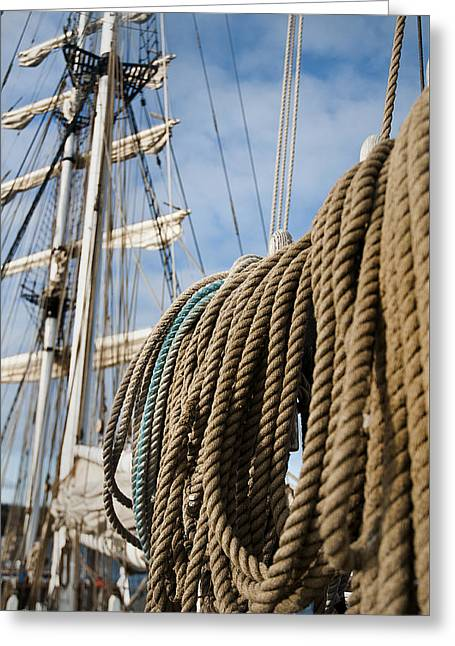 Boat Cruise Greeting Cards - Rigging4 Greeting Card by MAK Imaging