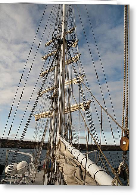 Boat Cruise Greeting Cards - Rigging5 Greeting Card by MAK Imaging