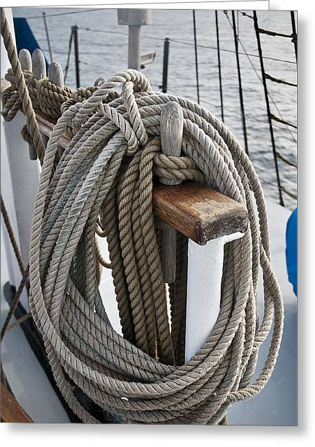 Masts Greeting Cards - Rigging6 Greeting Card by MAK Imaging
