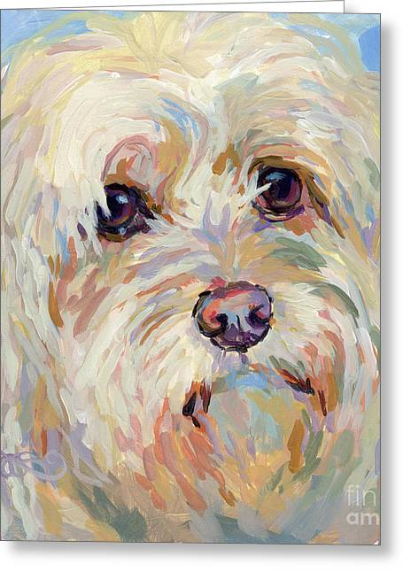 Shaggy Greeting Cards - Right Here Greeting Card by Kimberly Santini