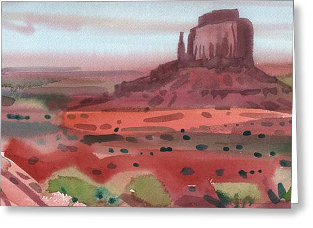 Rights Paintings Greeting Cards - Right Mitten Panorama Greeting Card by Donald Maier