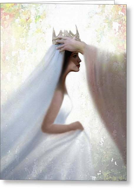 Jesus And Disciples Greeting Cards - Righteous Crown Greeting Card by Kume Bryant