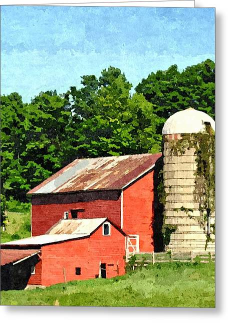 Red Roofed Barn Greeting Cards - Rigor Hill Barn 20 Greeting Card by Don Berg