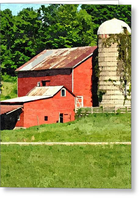 Red Roofed Barn Greeting Cards - Rigor Hill Barn 21 Greeting Card by Don Berg