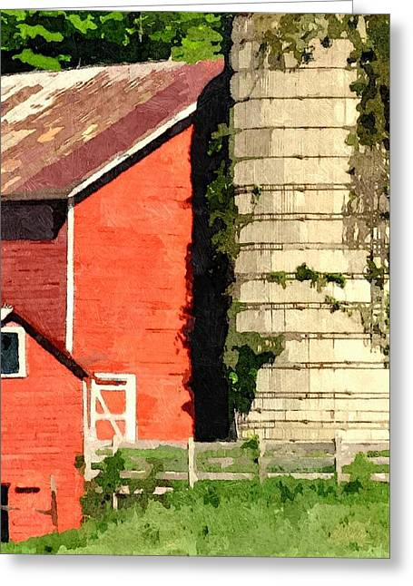 Red Roofed Barn Greeting Cards - Rigor Hill Barn 28 Greeting Card by Don Berg