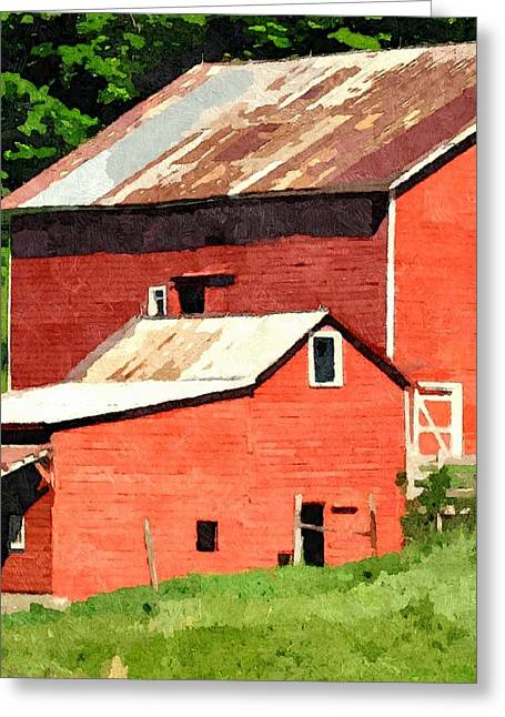 Red Roofed Barn Greeting Cards - Rigor Hill Barn 29 Greeting Card by Don Berg