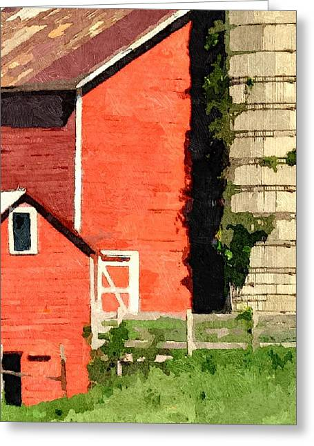 Red Roofed Barn Greeting Cards - Rigor Hill Barn 34 Greeting Card by Don Berg