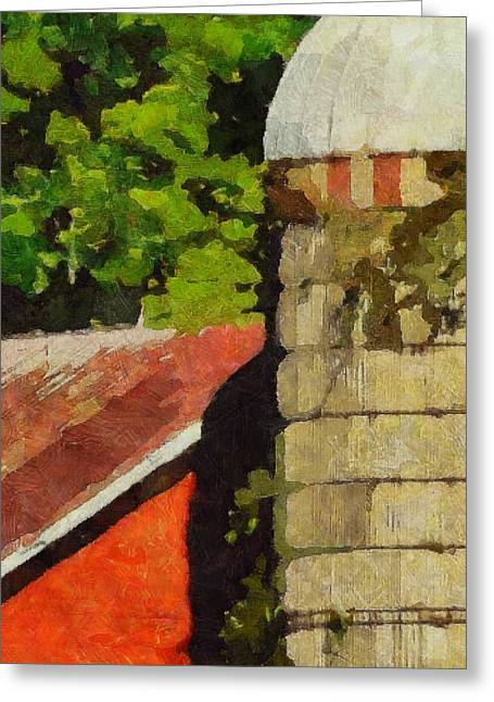Red Roofed Barn Greeting Cards - Rigor Hill Barn 38 Greeting Card by Don Berg
