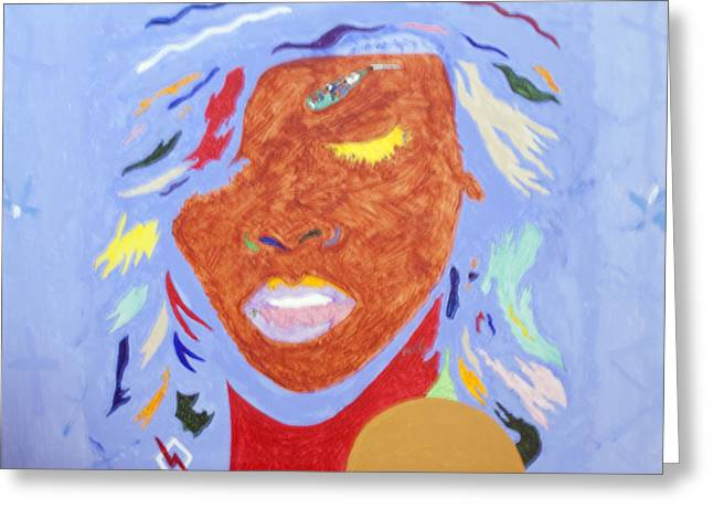 Rihanna Paintings Greeting Cards - Rihanna Loud Greeting Card by Stormm Bradshaw