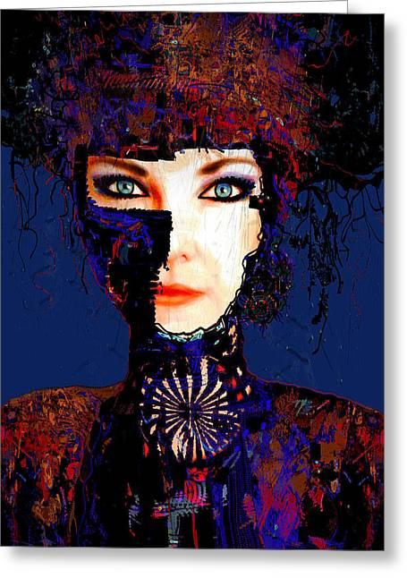 Eyebrow Greeting Cards - Rina Greeting Card by Natalie Holland