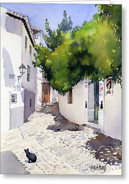 Rincon Del Gato Greeting Card by Margaret Merry