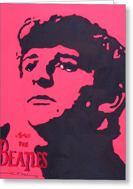 Ringo Starr Drawings Greeting Cards - Ringo Greeting Card by Eric Dee