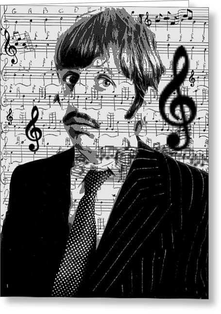 Ringo Star Of The Beatles Greeting Card by Brad Scott