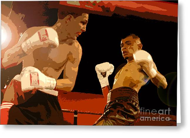 Ringside Greeting Card by David Lee Thompson