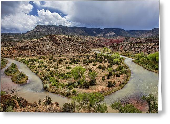 Chama River Greeting Cards - Rio Chama Overlook Greeting Card by Diana Powell