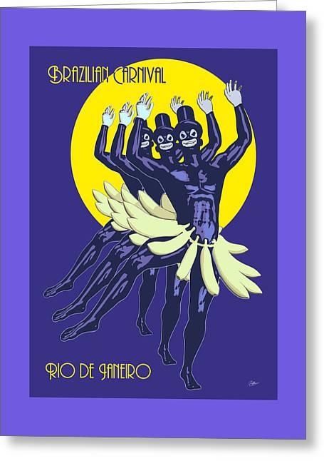 Buy Goods Greeting Cards - Rio de Janeiro rua Greeting Card by Quim Abella