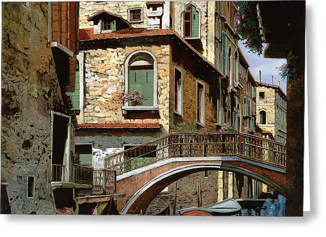 rio degli squeri Greeting Card by Guido Borelli
