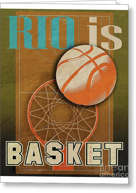 Rio Is Basketball Greeting Card by Joost Hogervorst