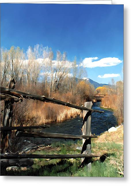 Taos Greeting Cards - Rio pueblo Greeting Card by Kurt Van Wagner
