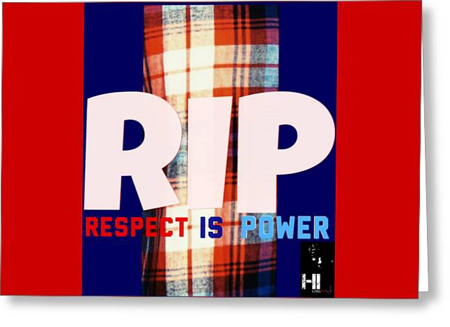 Miami Tapestries - Textiles Greeting Cards - Rip Greeting Card by HI Level