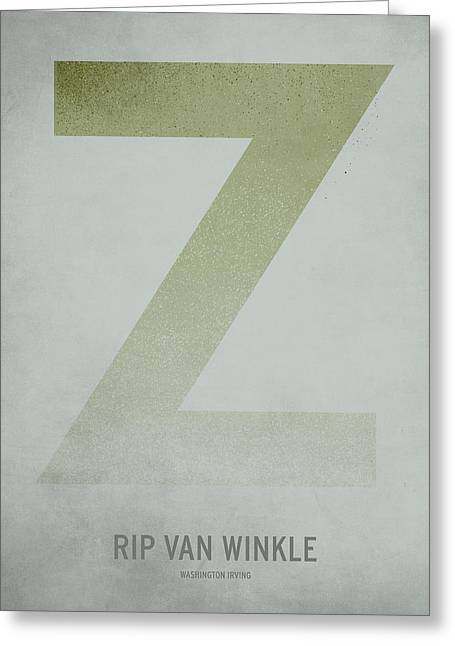 Minimalist Greeting Cards - Rip Van WInkle Greeting Card by Christian Jackson