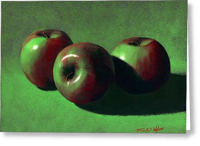 Fruit Food Greeting Cards - Ripe Apples Greeting Card by Frank Wilson