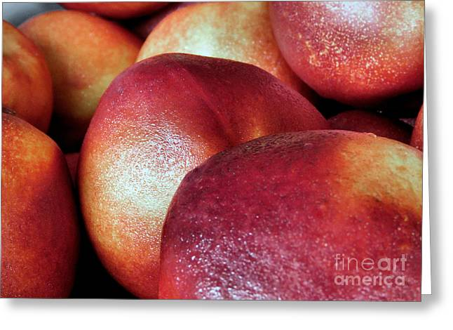 Ripe Peaches Greeting Card by Janice Drew