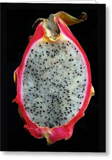Exotic Fruits Greeting Cards - Ripe Red Pitaya. Greeting Card by Terence Davis