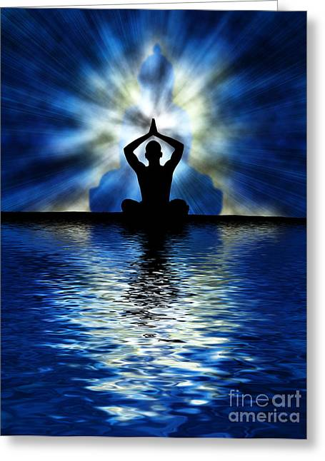 Praying Hands Greeting Cards - Ripple on an Ocean Greeting Card by Tim Gainey